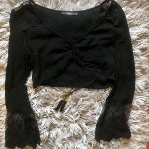 LF Black Crop Top